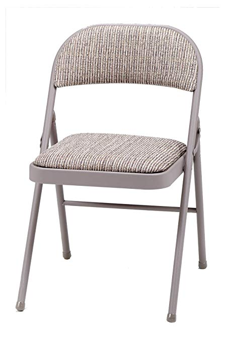Amazon.com: MECO 4-Pack Deluxe Fabric Padded Folding Chair, Chicory