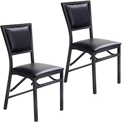 Amazon.com - Giantex Set of 2 Metal Folding Chair Dining Chairs Home