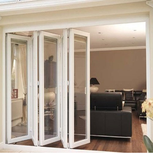 UPVC Folding Door, Unplasticized Polyvinyl Chloride Folding Door