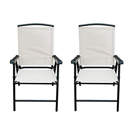 Amazon.com: SunLife Modern Outdoor Folding Lawn Chairs with Steel