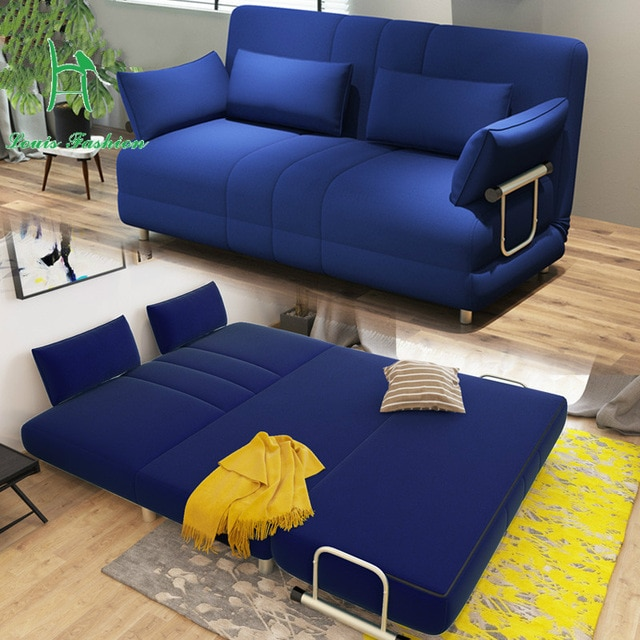 Louis Fashion Modern large sized apartment folding sofa bed 1.5