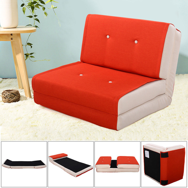 Giantex Folding Sofa Bed Modern Convertible Split Back Linen Futon