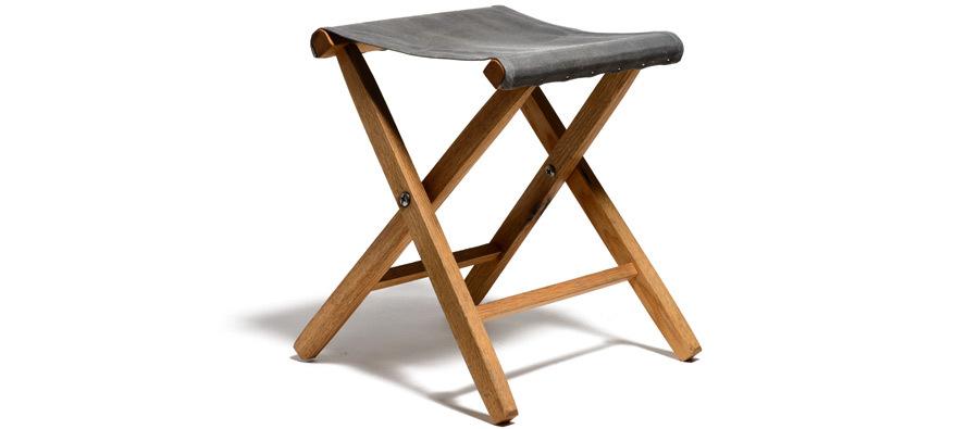 Waxed Canvas & Oak Folding Stool | Kaufmann Mercantile | Kaufmann