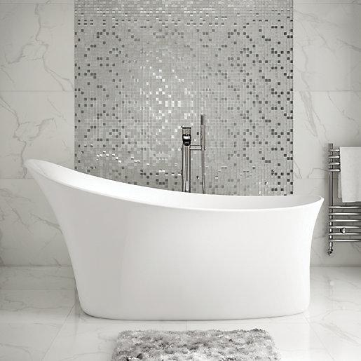 Wickes Fasani Contemporary Freestanding Slipper Bath - 1590mm