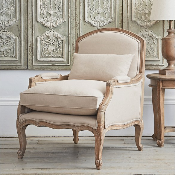 Chantelle French Armchair (Putty) - Alison at Home