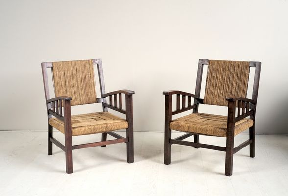 French Armchairs by Francis Jourdain, 1930s for sale at Pamono