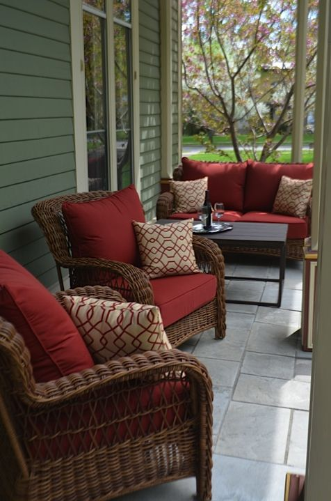 Come enjoy our new porch furniture and relax to the sound of a