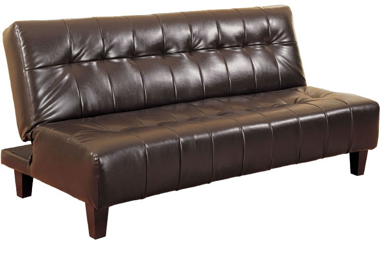 Rockaway Modern Convertible Futon Couch Sleeper Java | The Futon Shop