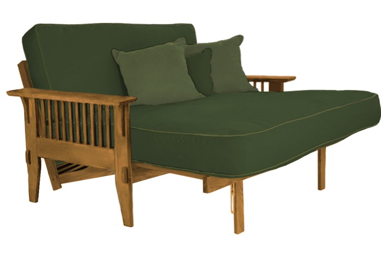 Loveseat Oak Futon Frame | San Mateo Oak Sofabed | The Futon Shop