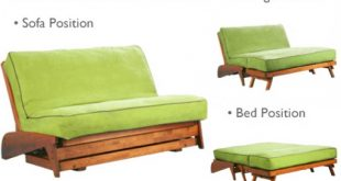 Wallhugging Loveseat Futon Frame | Dillon Warm Cherry Futon Frame