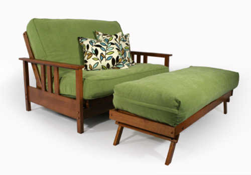 Durango Warm Cherry Queen Loveseat Wall Hugger Futon Frame by