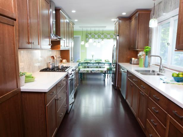 Space with galley kitchen designs