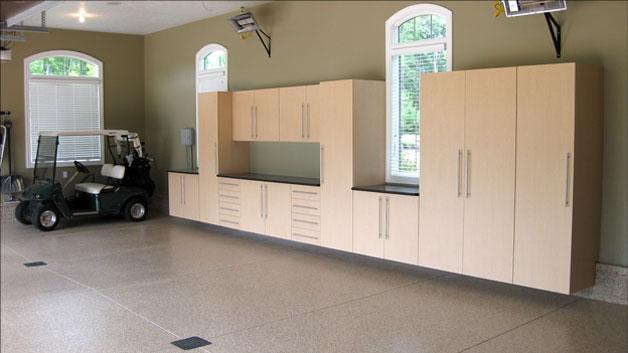 Hinges for frameless garage cabinets