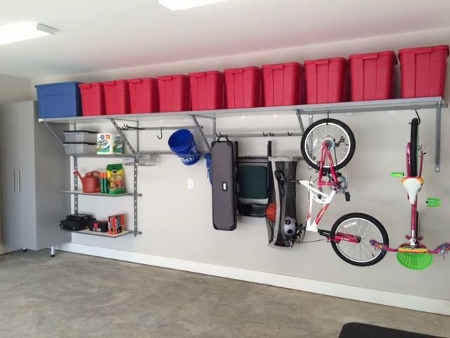 You will never need another garage shelving system! Monkey Bars