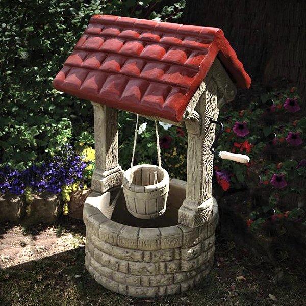 Stone Garden Wishing Well