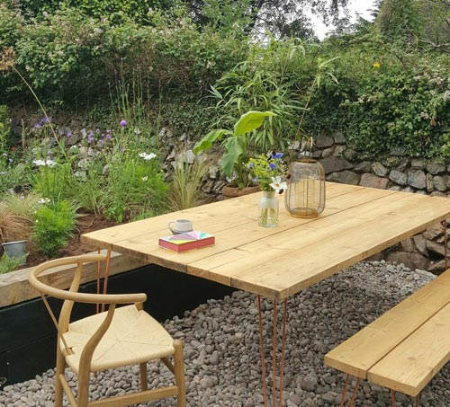 Garden Table DIY with Hairpin Legs and Metal Table Legs