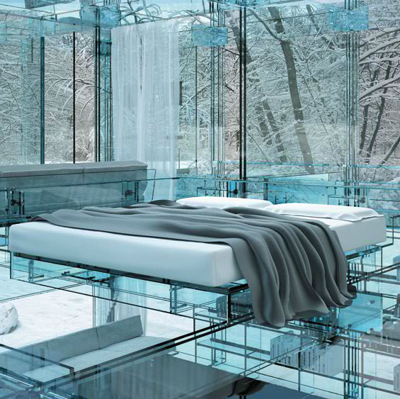 Glass Houses Showcase A Line of Glass Furniture