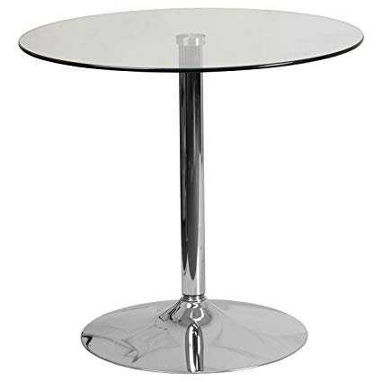 Amazon.com - Flash Furniture 31.5'' Round Glass Table with 29''H