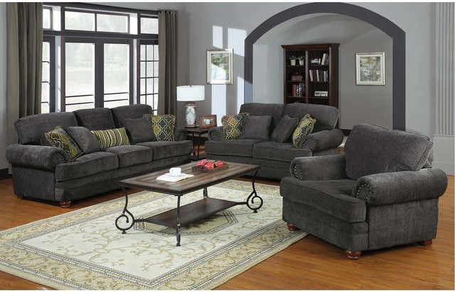 The makers and sellers of the gray sofa and loveseat ...