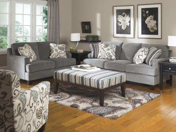 Sofa: Marvellous grey sofa and loveseat Gray Reclining Sofa And
