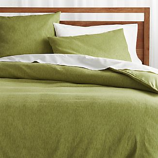Green Bedding | Crate and Barrel