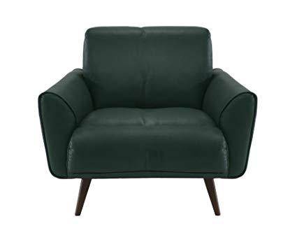 Amazon.com: Natuzzi Editions Tobia Green Leather Armchair: Kitchen