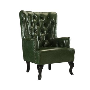 Rejuvenate your home with green leather   armchair