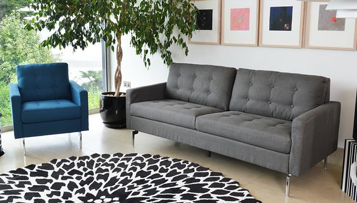 Pick of the Week! u2013 Monty 3 Seater Grey Sofa - Frances Hunt