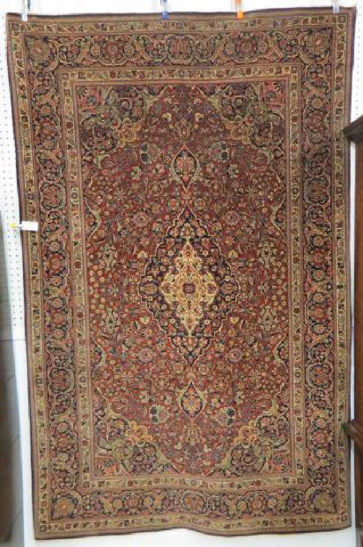 Pair of Kashan Persian Handmade Rugs,