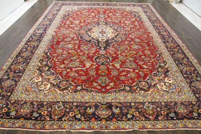 Persian Traditional Vintage Wool 9.5 X 13 Oriental Rug Handmade