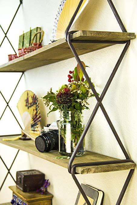 Amazon.com: AVIGNON HOME Rustic Floating Wood Shelves 3-Tier Wall