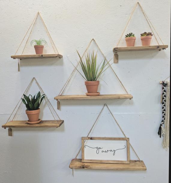 Best Ideas for Using Hanging Shelves in   Design