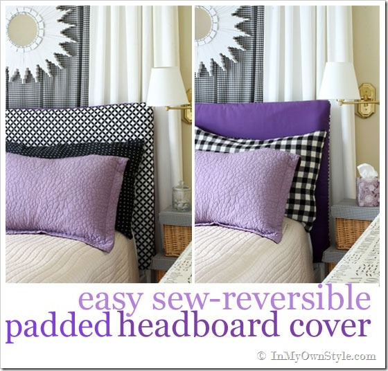 Easy-Sew Reversible Padded Headboard Cover | In My Own Style