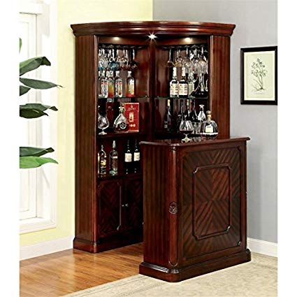 Amazon.com - Furniture of America Myron Traditional Corner Home Bar