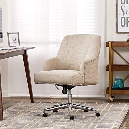 Amazon.com: Serta Style Leighton Home Office Chair, Twill Fabric