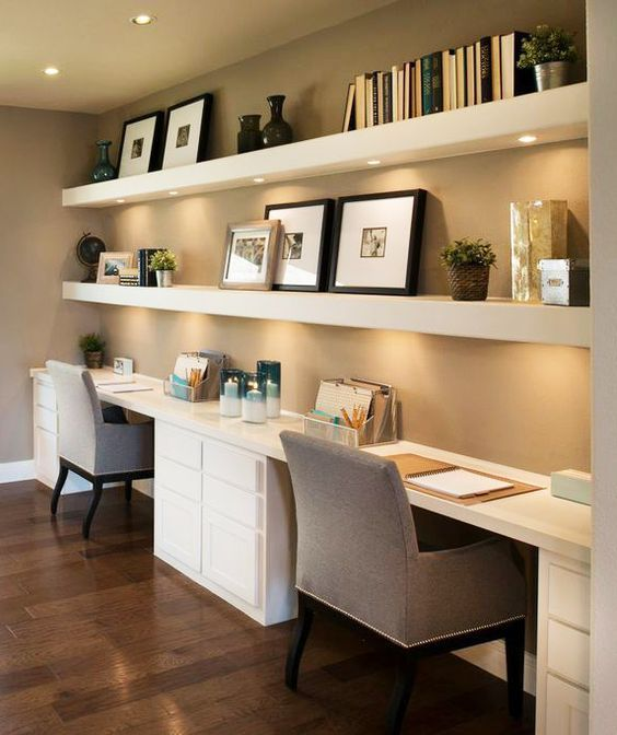 Beautiful and Subtle Home Office Design Ideas | Minimal Office