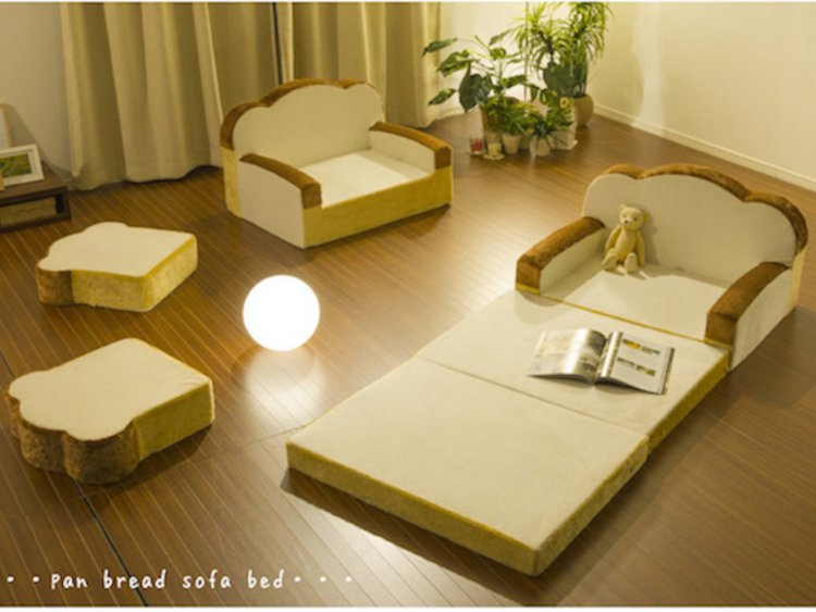 A Japanese furniture company came out with an adorable bread sofa
