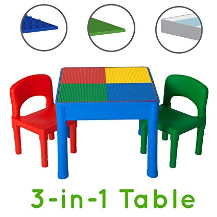 Amazon.com: Play Platoon Kids Activity Table Set - 3 in 1 Water