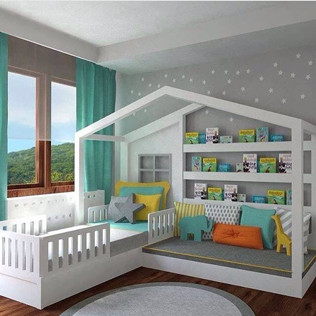 Cool kids bedroom set up | Books World