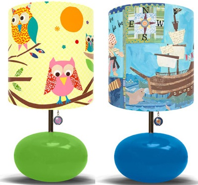 Colorful kid's lamps