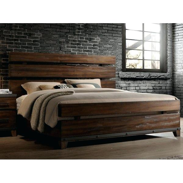 King Sized Bed Modern Rustic Brown King Size Bed Forge King Size Bed