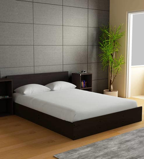 Buy Ren King Size Bed with Box Storage & Two Bedside Tables in Wenge