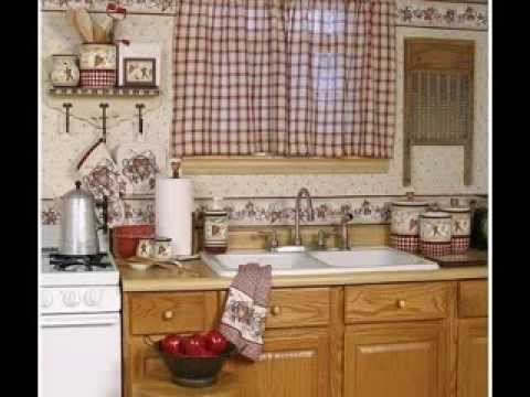 Country kitchen curtains design decorating ideas - YouTube