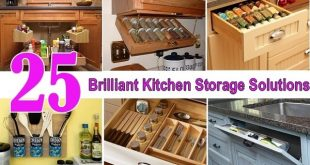 25 Brilliant Kitchen Storage Solutions | Home Design, Garden