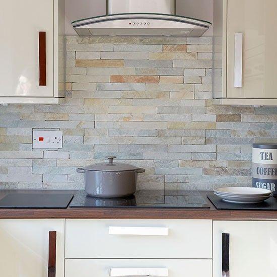 Hi-gloss cream kitchen | Decor | Kitchen wall tiles, Kitchen tiles