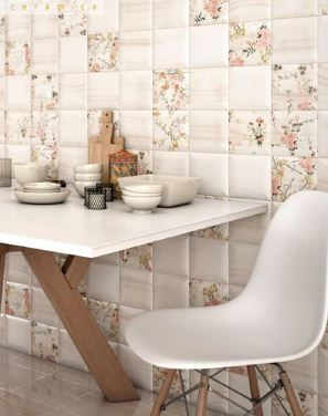 Spanish Kitchen Tiles Ceramic Elysian Beige+Decor 150x150