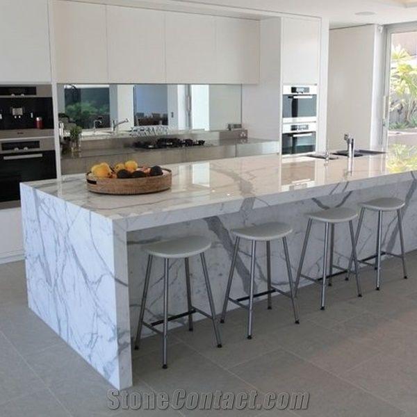 Calacatta Carrara White Marble Counter Top/Kitchen Tops/Natural