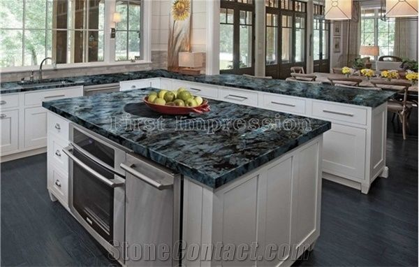 Labradorite Volga Blue Granite Countertops/Ukraine Blue Granite