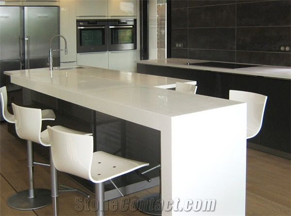 Corian Solid Surface Kitchen Tops, White Stone Kitchen Countertops