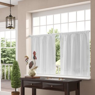 Window Valances, Café & Kitchen Curtains You'll Love | Wayfair